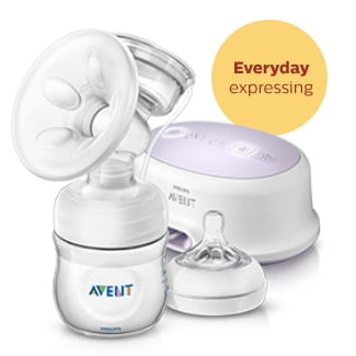 Comfort electric breast pump and nipples Philips Avent