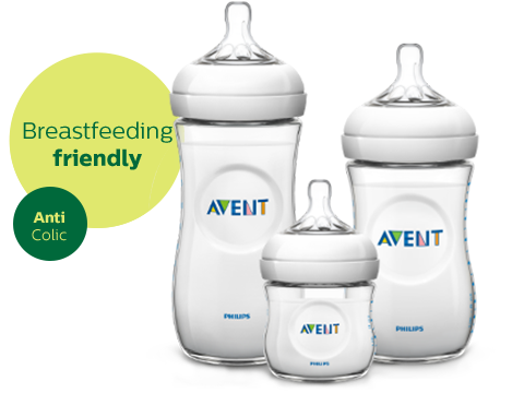 Philips Avent Natural Baby Bottle is breastfeeding friendly anti colic