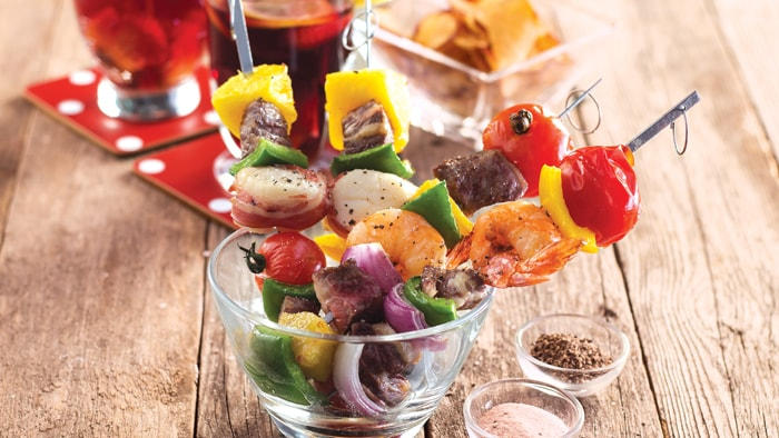 Assorted Meat & Vegetables Skewers