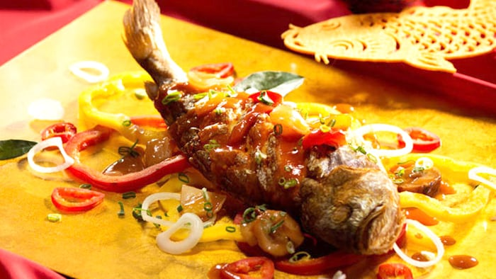 Grilled Croaker with Sweet and Sour Sauce