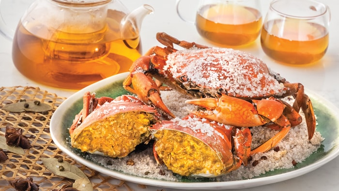 Virgin Crabs Baked In Salt