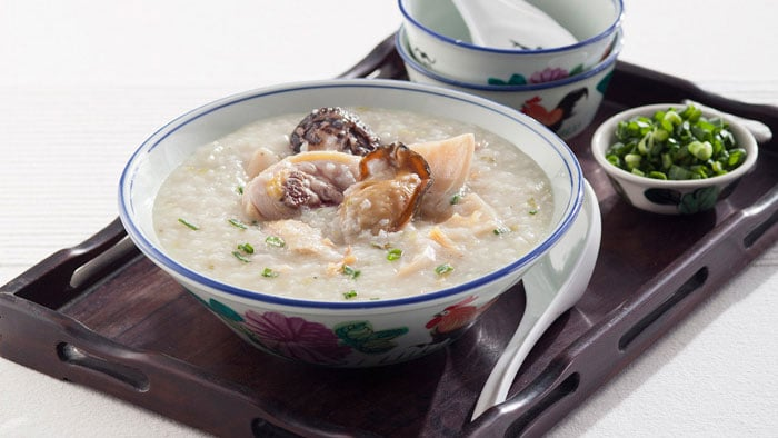 Chicken Congee with Dried Oyster and Sea Conch