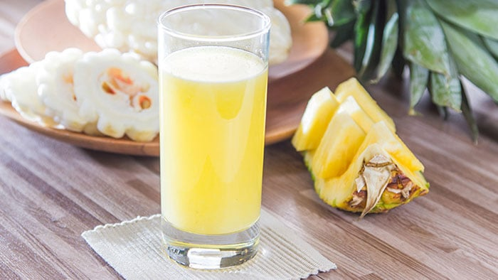 Pineapple and Bitter Melon Juice