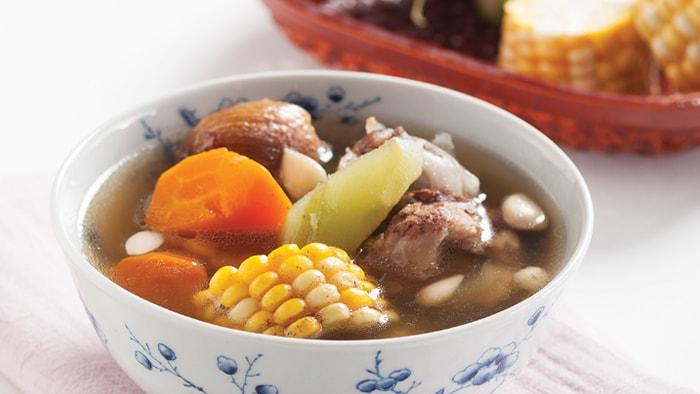 Pork Bone Broth with Chayote, Carrot and Corn