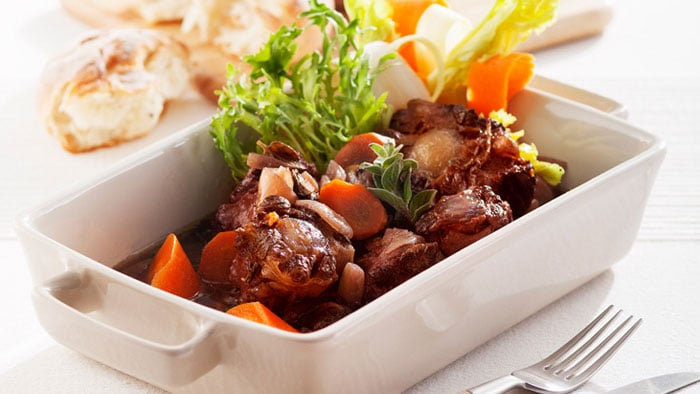 Stewed Ox Tail in Red Wine