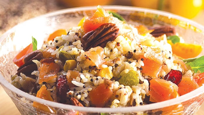 Quinoa rice with corn and vegetables