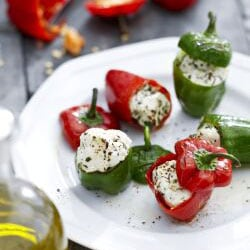 Mini Peppers with Goat Cheese