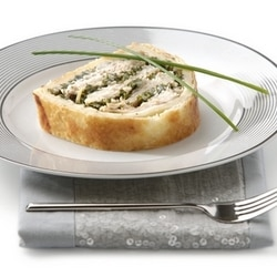 Smoked trout pie
