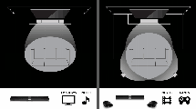 Lay-out of surround system